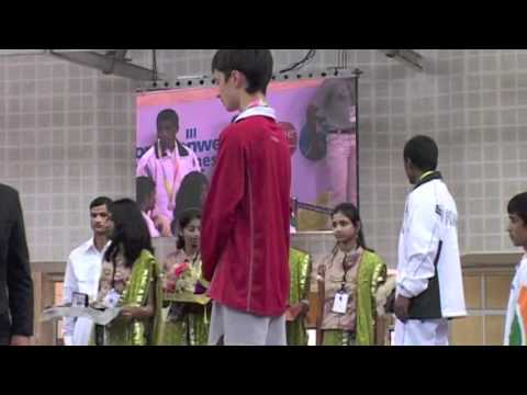 2008 Commonwealth Youth Games: 46 kg Medal Ceremony