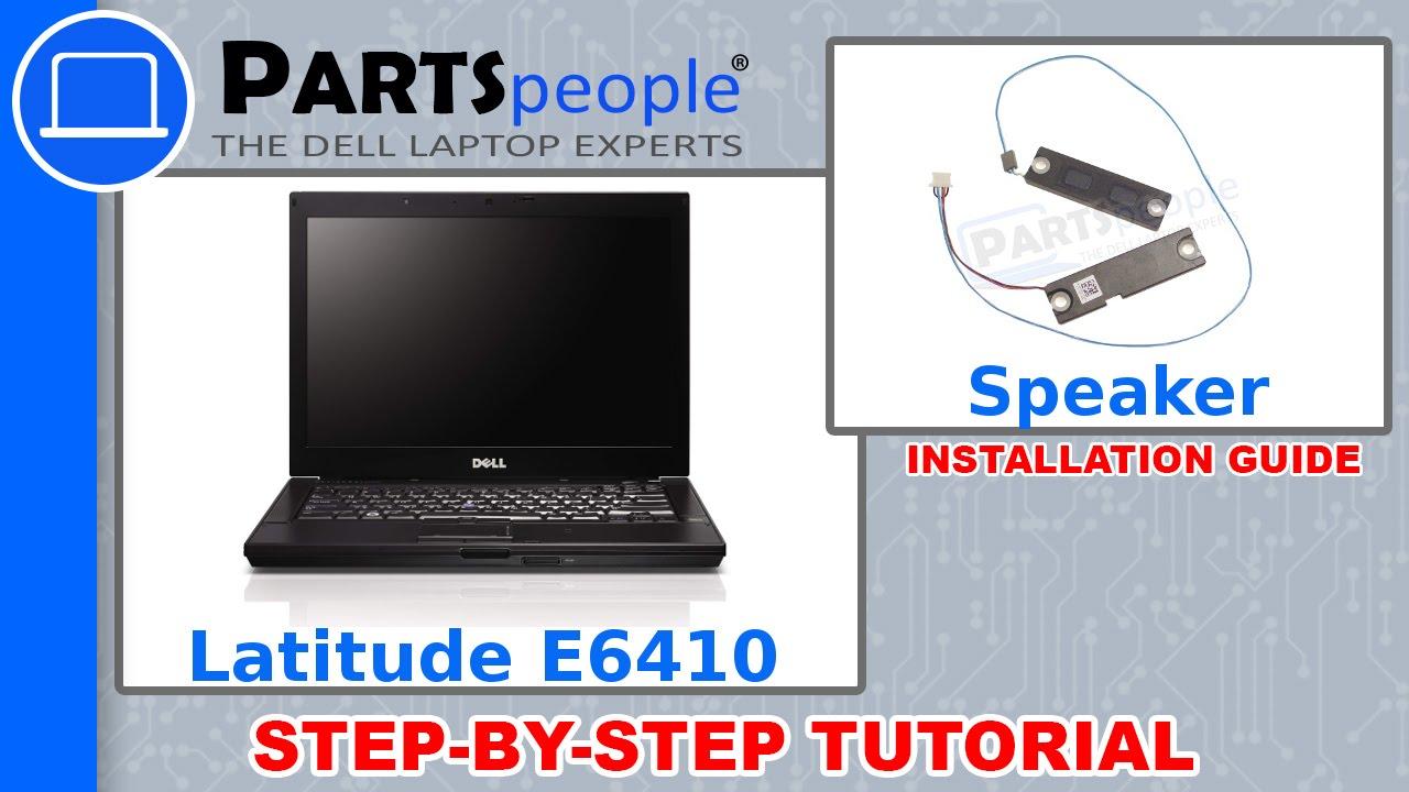 Dell Latitude E6410 Speaker Removal and Installation