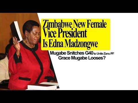 Zimbabwe New Female Vice President is Edna Madzongwe, Grace Mugabe Looses