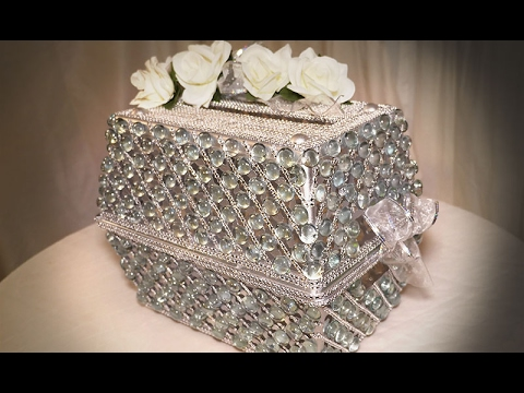 Diy Dollar Tree Wedding Bling Card Box Youtube