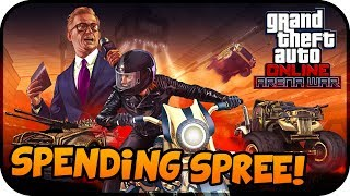 NEW GTA Online ARENA WAR DLC Update Spending Spree! - (New Vehicles, Guns, Modes & MORE)