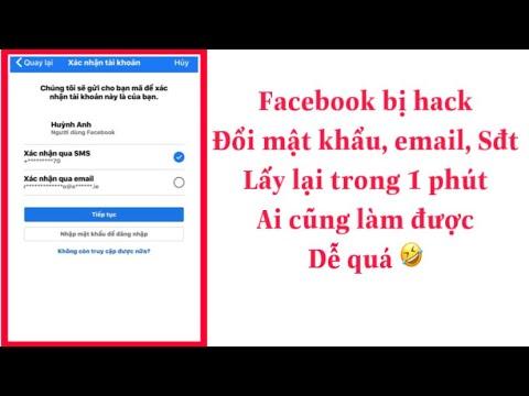 lấy lại facebook bị hack bằng số điện thoại - Cách lấy lại Facebook bị hack , đổi mật , thay email số điện thoại mới nhất 2022