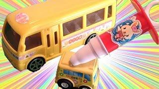 はたらくるま 働く車を大きくしよう♪救急車 郵便車 ごみ収集車 パトカー 消防車 ようちえんバス 病院 医者 VEHICLE toy kids thumbnail