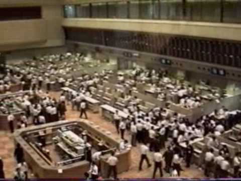 1990 Tokyo Stock Exchange - Roaring Bubble Years in June 1990 東京証券取引所