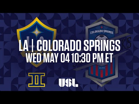 WATCH LIVE: LA Galaxy II vs Colorado Springs Switchbacks FC 5-4-16