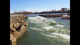 Feather River in Yuba City close view Feb 2013