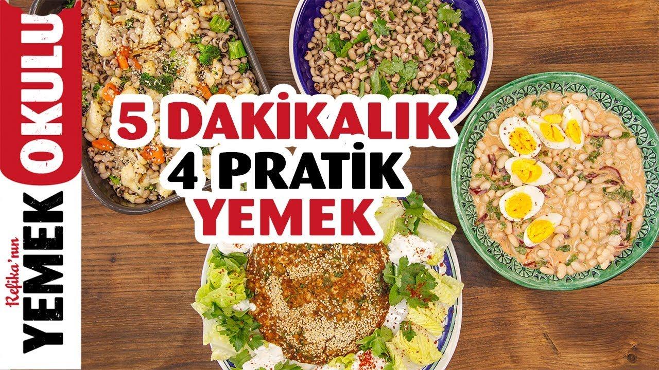 5 Dakikada Hazırlanan 4 Pratik Yemek Tarifi | Fasulye ve Börülceyle Piyazdan Köfteye