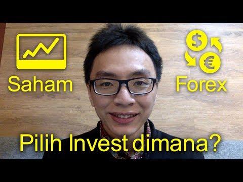 Investasi saham vs forex, untung mana?