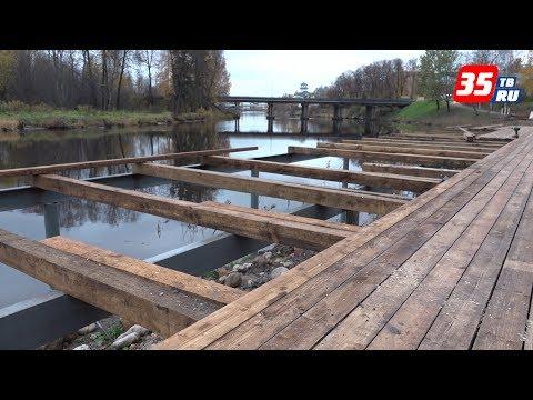 Завершается первый этап реконструкции набережной в Вытегре