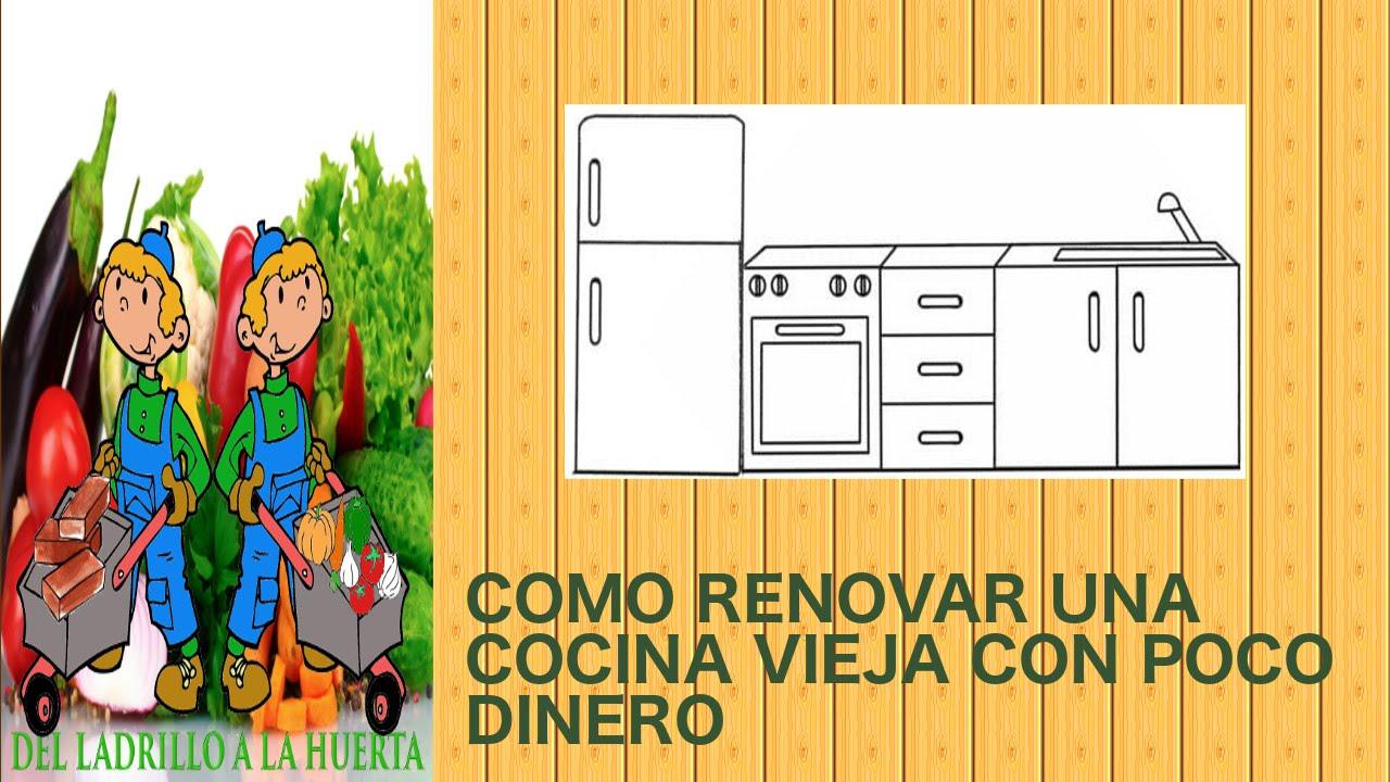 Como renovar una cocina vieja con poco dinero y materiales for Como decorar una cocina