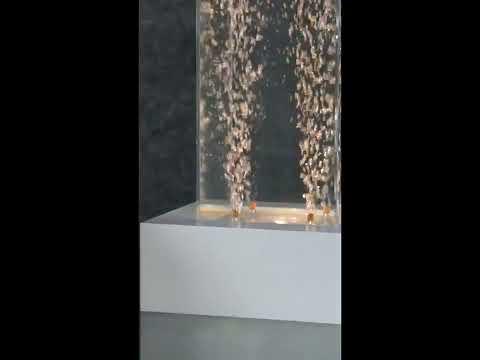 Tabletop LED Bubble Fountain White Frame