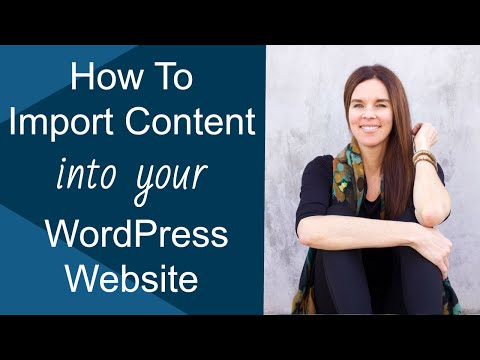 Import file wordpress