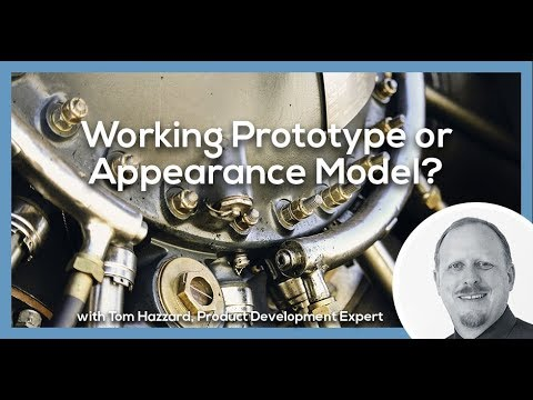 Working Prototype or Appearance Model?