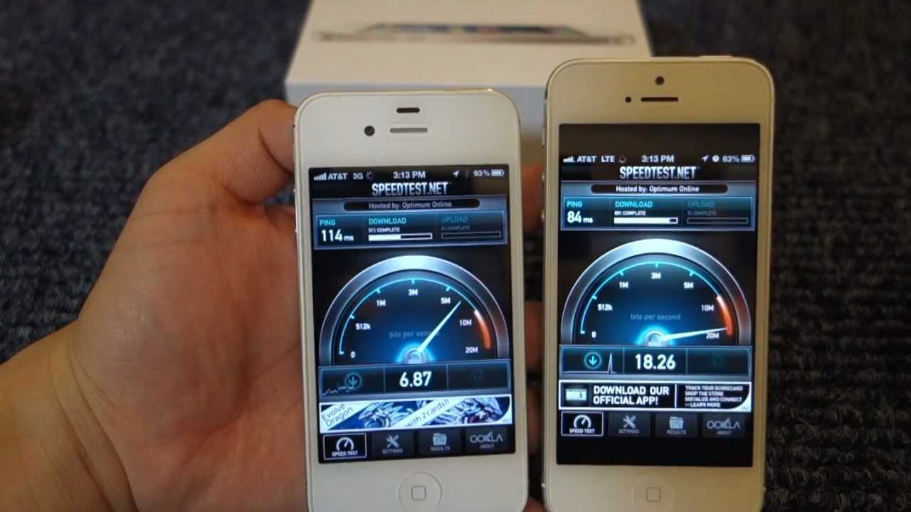 Speed Test Apple IPhone 3G Vs 4S 5