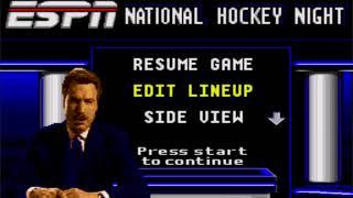 ESPN  NATIONAL HOCKEY  NIGHT Quebec v Hartford (SEGA MEGA DRIVE/GENESIS)