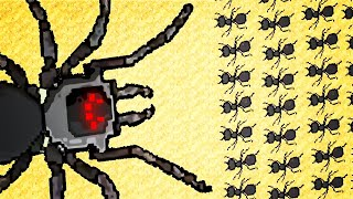 MASSIVE SPIDER vs Endless Ant Army Battle in Pocket Ants: Colony Simulator!
