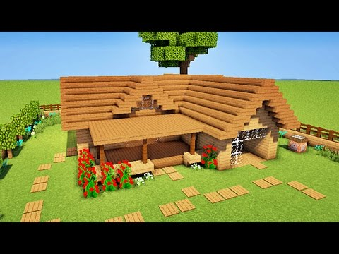 minecraft tuto comment faire une starter house facilement youtube. Black Bedroom Furniture Sets. Home Design Ideas