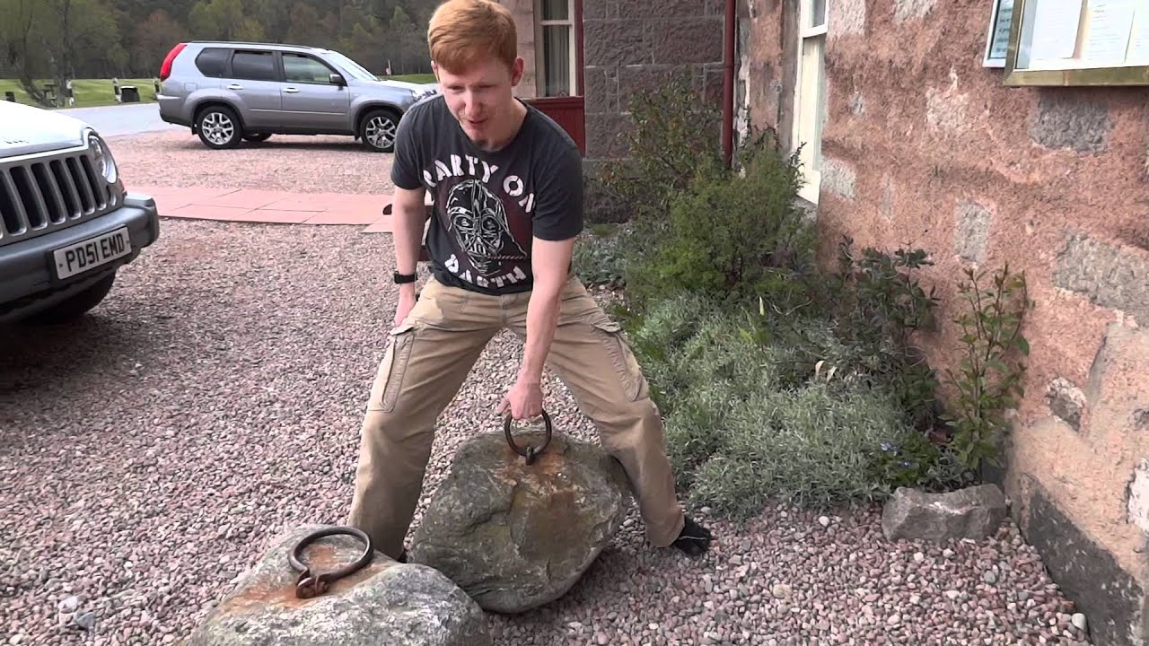 dinnie stone lifting attempt 1 youtube