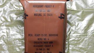 Обзор и Тест сухпайка 1985 года выпуска USA MRE Menu No.4