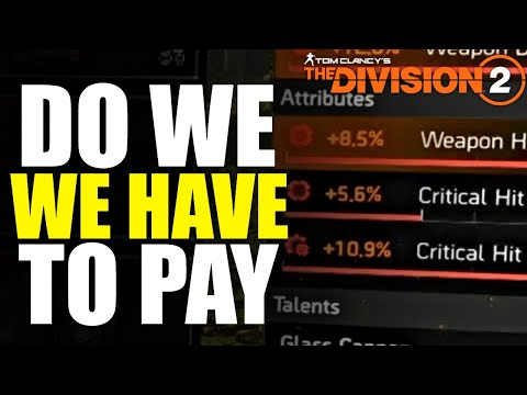 The Division 2 NEWS! RPG MOD SLOT CHANGES & YEAR 2 PAID CONTENT?
