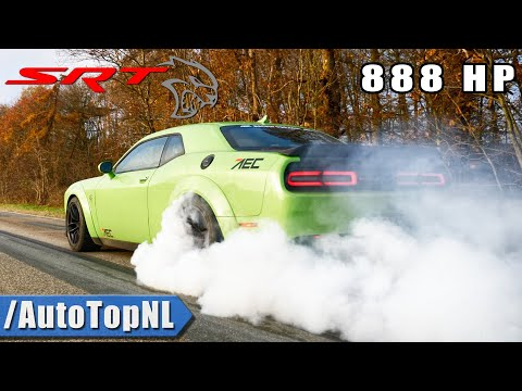 888HP DODGE HELLCAT XR | THE DEMON KILLER | STRAIGHT PIPE SOUND & BURNOUT By AutoTopNL