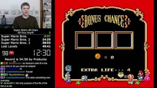 (34:54) Super Mario All-Stars All Four any% speedrun *Former World Record*