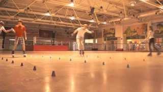 Уроки слалома в школе роллеров Омска Школа катания на роликовых коньках в Омске