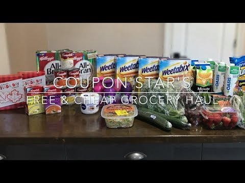 FREE & CHEAP GROCERY HAUL – July 6th 2017 – COUPONING IN CANADA!