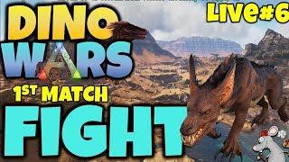 ARK DINO WARS #6 FIRST MATCH LIVE!