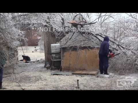 01-16-17 Dodge City, KS - Ice Storm Damage Clean Up