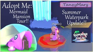 Adopt Me: Summer Update Waterpark & Mermaid Mansion Tour (on sale!) Roblox