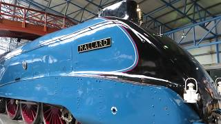 Mallard Steam Train at National Railway Museum York England - 2018