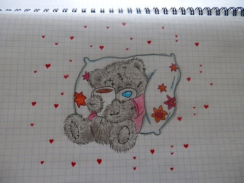 Как нарисовать МИШКУ ТЕДДИ #84/ How to draw a TEDDY BEAR