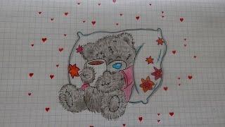 Как нарисовать МИШКУ ТЕДДИ #84/ How to draw a TEDDY BEAR(Все Видео Канала Рисуем Просто: https://www.youtube.com/channel/UCAELj3U5vke9DhuTJIabMGw Спасибо за просмотр! All Video Channel Just Draw: ..., 2016-12-08T12:24:45.000Z)