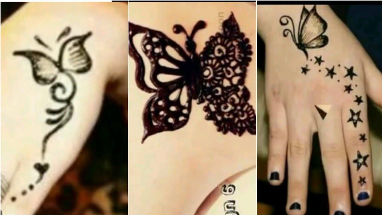 Butterfly Henna Tattoo Designs: Butterfly Henna Tattoo Designs Ll Tutorial Ll Tattoo