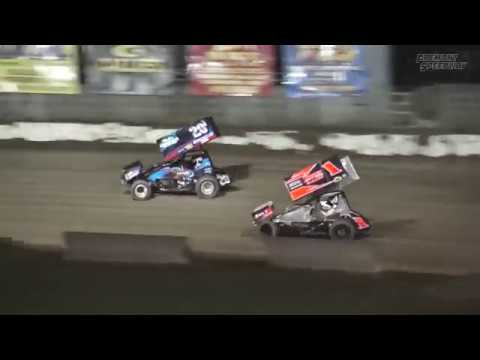 Fremont Speedway 305 Sprint Car Feature Highlights - 9/15/17