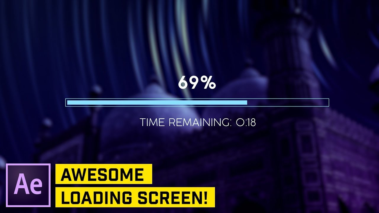 ADVANCED: Loader Bar Countdown After Effects Tutorial