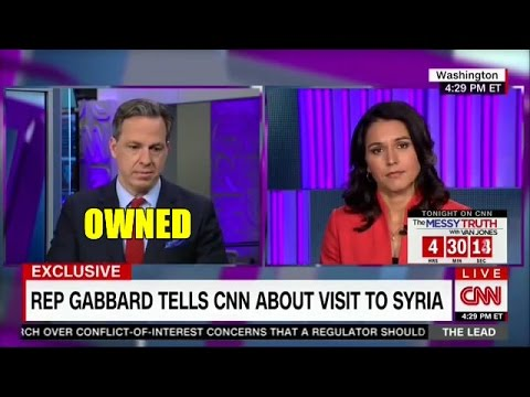 REP. TULSI GABBARD SCHOOLS DOPEY CNN JACK TAPPER WITH FACTS ON SYRIA