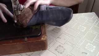 видео Рукавицы на искусственном меху с брезентовым наладонником