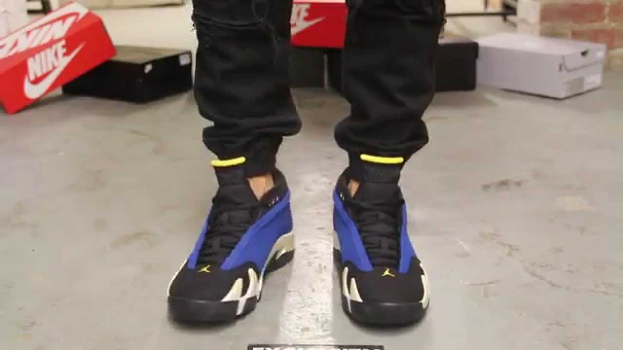 04fe3c90616b5b Air Jordan 14 Low Retro - Laney - On-feet Video at Exclucity - YouTube
