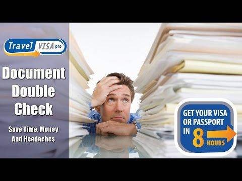 "U.S Passport and Travel Visa Application Checklist  Service - ""Document Double Check"""