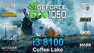 GTX 1050 + i3 8100 Test in 9 Games