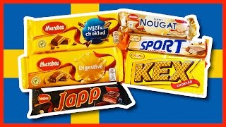 Chocolate from Sweden thanks David Part #2, Marabou, KEX, JAPP, Sport Lunch
