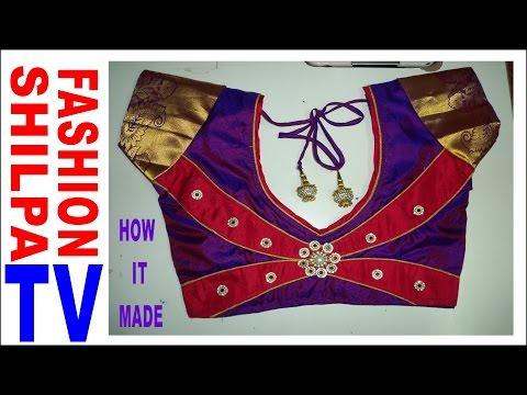Shilpa Fashion Tv How To Make Designer Blouse At Home 39 Designer Bridal Back Neck Blous