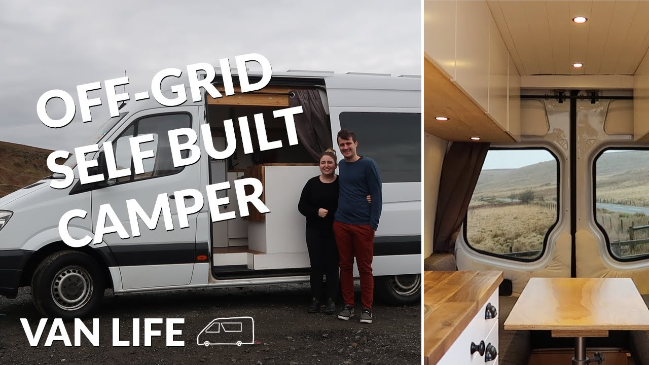 Van Tour Self Built Camper With Induction Cooking Youtube