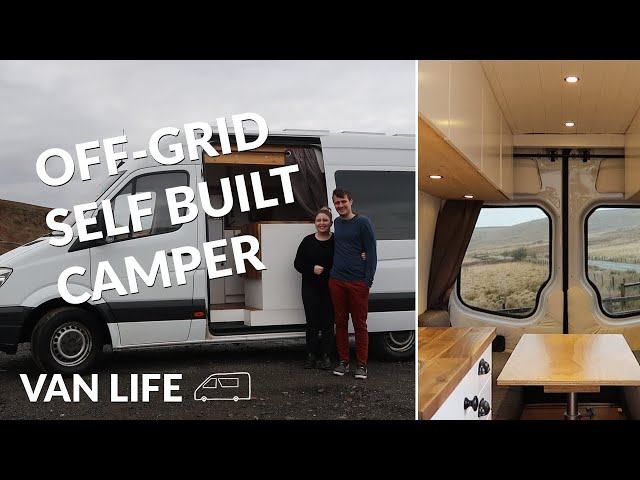 VAN TOUR | Self-converted off-grid Sprinter campervan with induction cooking