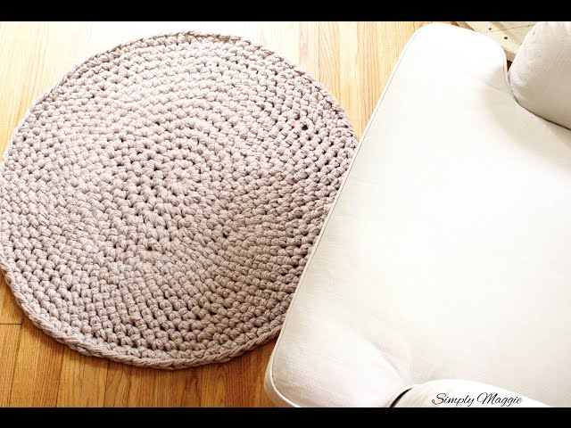 How To Hand Crochet A Circular Rug You