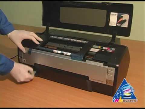СНПЧ InkSystem на принтере EPSON PHOTO 1410 - YouTube