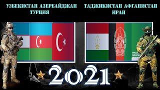 Узбекистан Азербайджан Турция VS Таджикистан Афганистан Иран Армия 2021 Сравнение военной