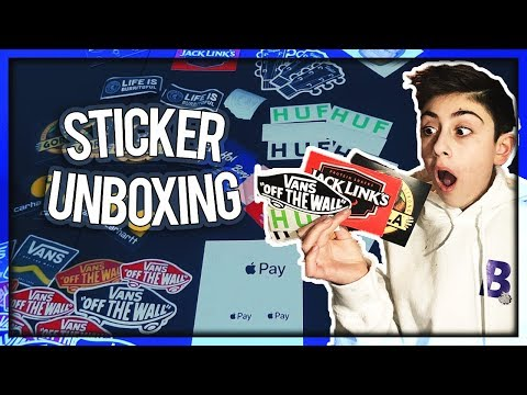 UNBOXING FREE STICKERS! (WITH LINKS)